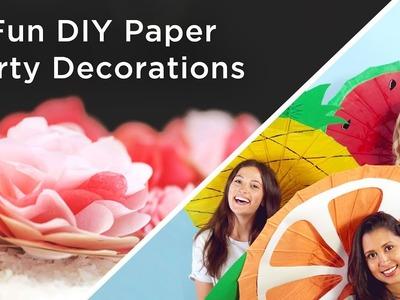 5 Fun DIY Paper Party Decorations