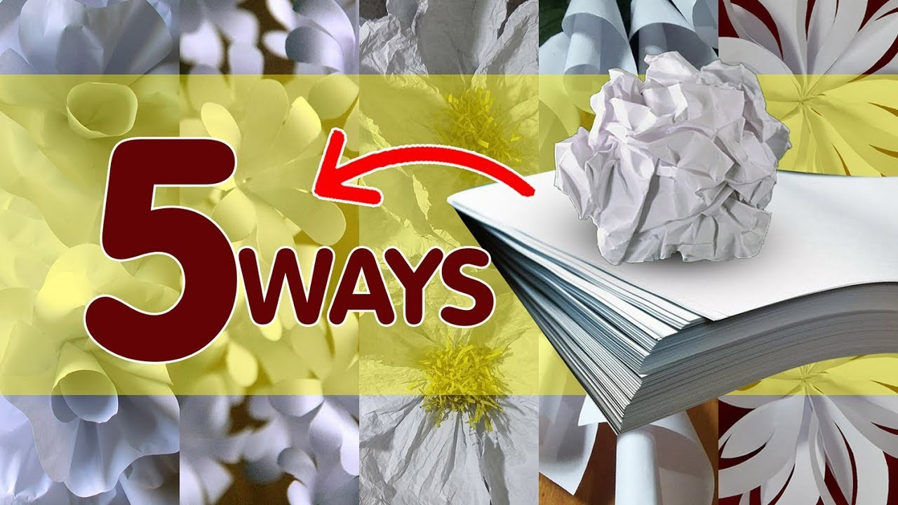 5 Ways to Make Bond Paper Flowers