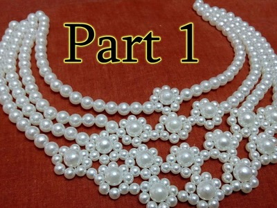 #6 (PART 1) How to Make Pearl Beaded Necklace || Diy || Jewellery Making