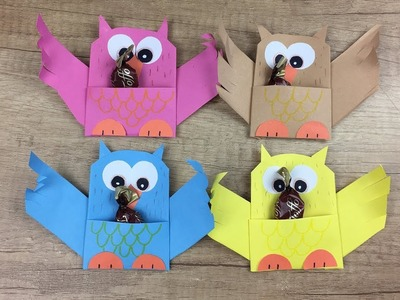 Back to school gift idea, CUTE and easy to make paper owl
