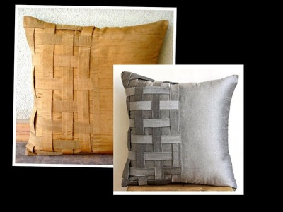 Basket Weave Cushion Cover Cutting and Stitching  | DIY | Home Decor