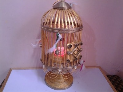 Best Out Of Waste Paper Golden Cage