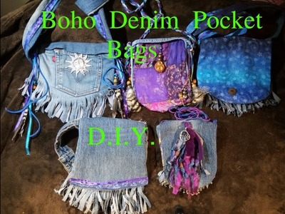 Boho.Hippie Denim Pocket Bags- D.I.Y.