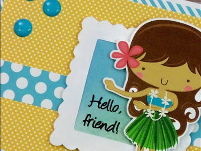 CARDZ TV HULA GIRL CARD ~ PAPER PLAY SKETCH #47