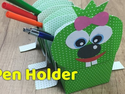 Caterpillar Easy Paper Pen Holder - DIY Inspiration for Back to School crafts