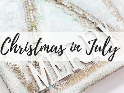 Christmas in July! DIY shabby home decor!