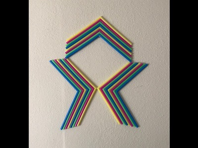 Colorful DIY Wall Art Made with Plastic Straws
