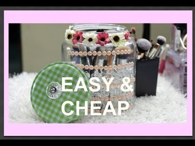 D.I.Y MAKEUP BRUSH HOLDER WITH LID || EASY & CHEAP