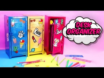 DESK organizer DIY school lockers  - EASY CRAFTS FOR CHILDREN
