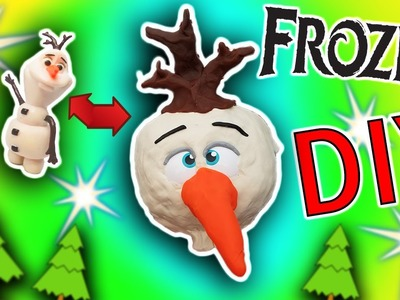 Disney Frozen DIY Play-Doh Olaf Crafts For Kids! Learn Colors Drill N Fill Faces How To Video