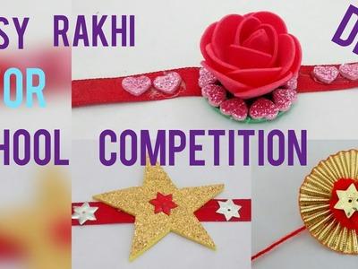 DIY 3 super easy Rakhimaking for kidsschool competition with foam sheet, gota & pompom (HD video)