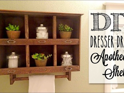 DIY Apothecary Cabinet   Reclaimed Old Dresser Drawer