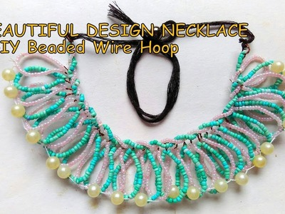 DIY Beautiful Design Beads Necklace Making At Home