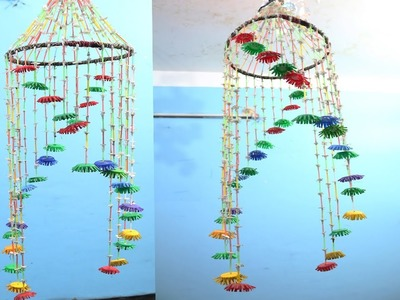 DIY Beautiful Wind Chimes with Plastic Bottles | bottle cap wind chime diy | bottle cap crafts