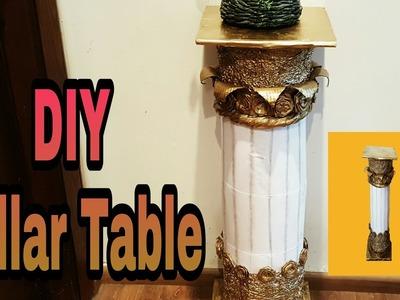 "DIY - Best Out Of Plastic Bottles ""TABLE PILLAR"". Room decor idea:"
