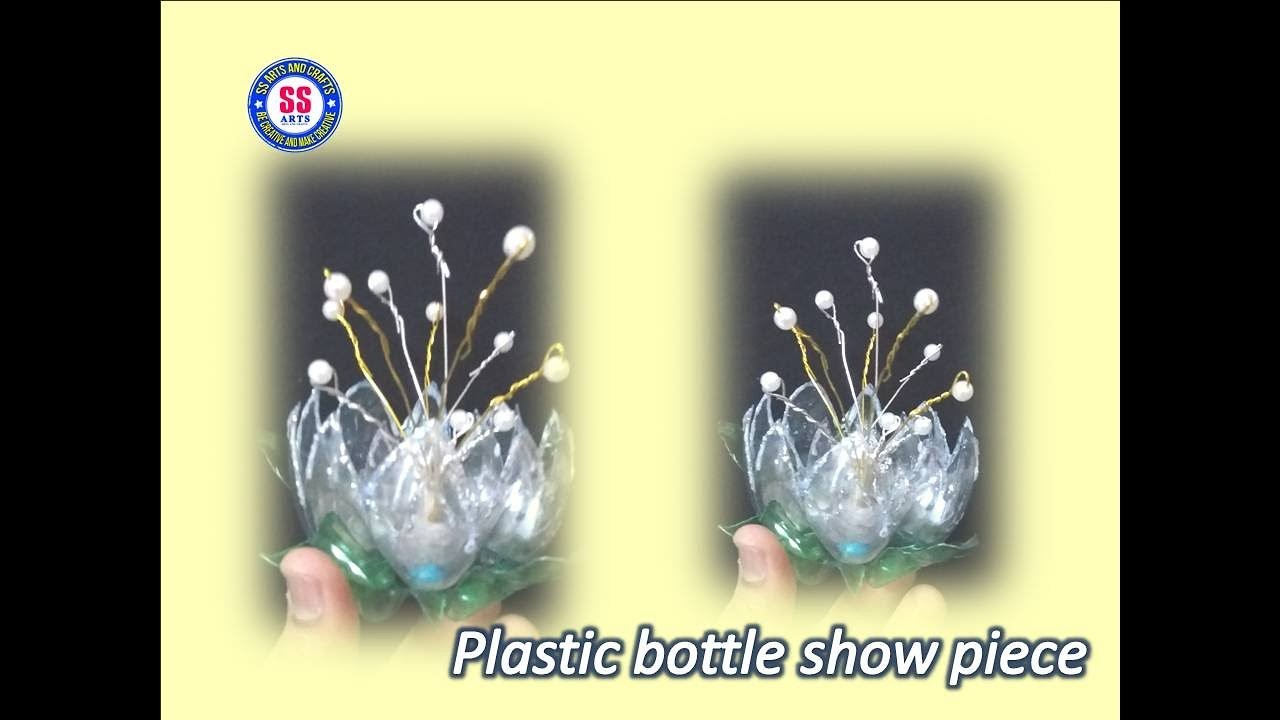 DIY|| Best out of the waste || Plastic bottle  table center show piece