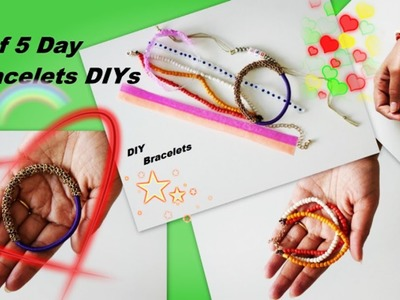 DIY Bracelets Out Of Beads , Chain And Elastic Cord - So Easy - Day 2 Of Day 5 Bracelets DIYs