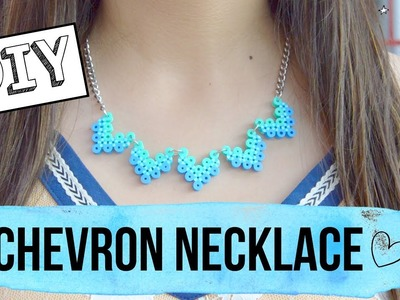 DIY Chevron necklace.how to make a perler beads necklace