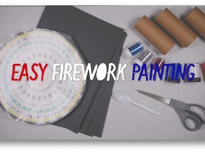 DIY Crafts: Easy Firework Painting for Kids