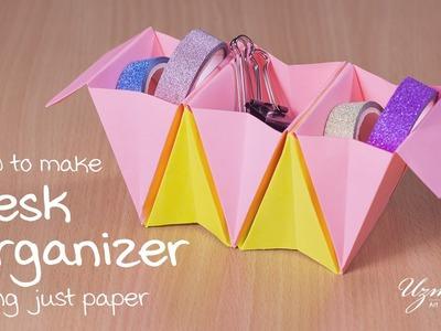 DIY Desk Organizer (Accordion box)    Simple & Easy to make   Origami Paper Craft