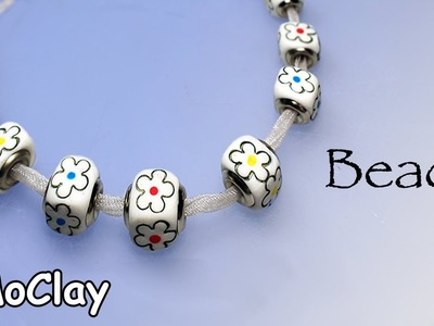 DIY Easy flower beads. Polymer clay necklace