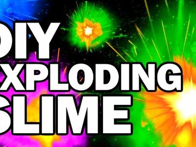DIY Exploding Slime - Collab FAIL!!! w.CRH - Man Vs Slime #2