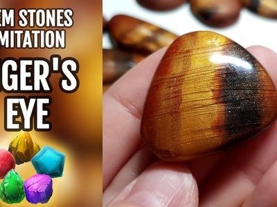 DIY GEMSTONE Imitation. Tiger's Eye gemstone from polymer clay!