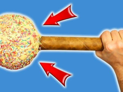 DIY - Giant Cake on a Stick CAKE POPS. How to make it at home