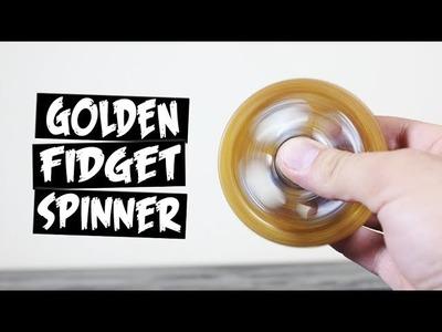 DIY Gold Hot Glue Hand Spinner Fidget Toy