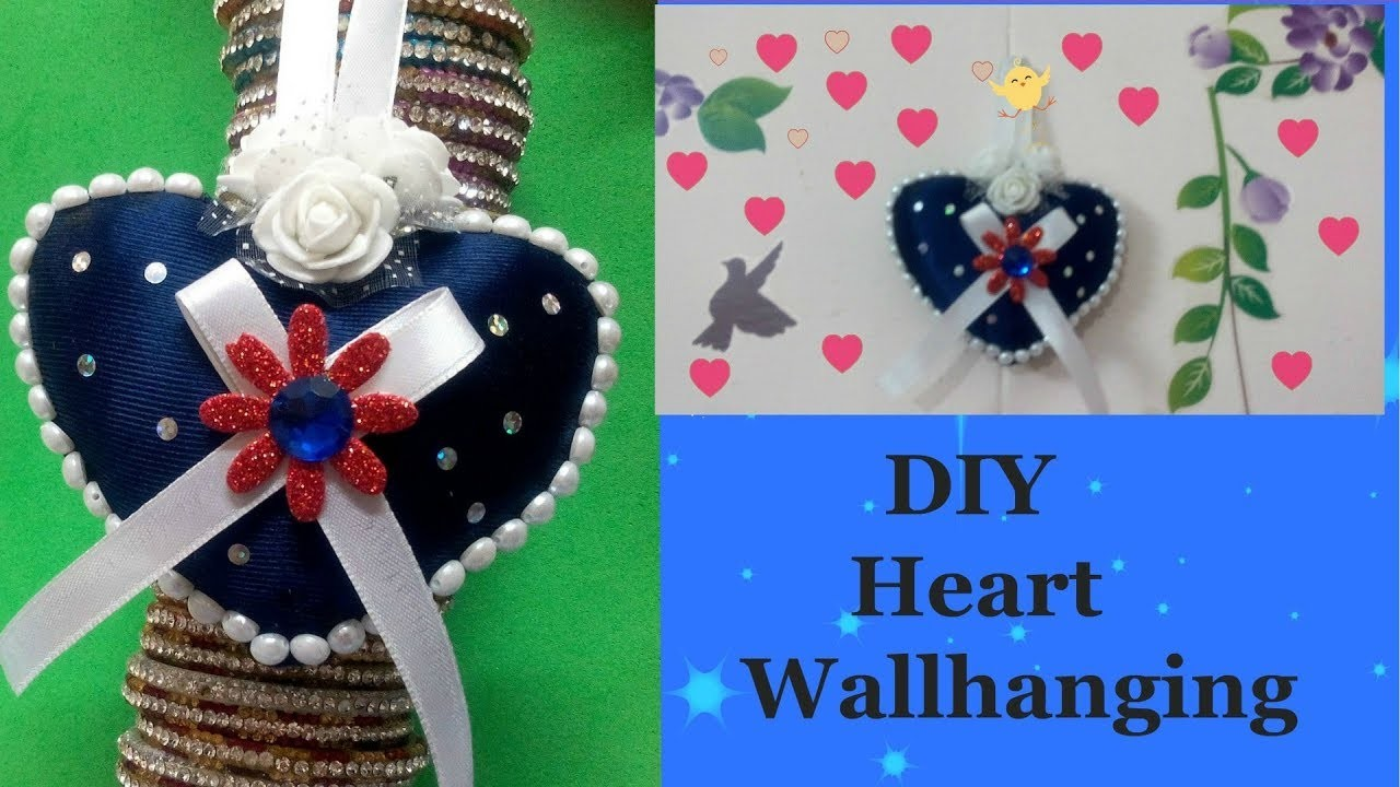 DIY Heart Decors in living Room |Heart Wall Hanging | Wall Decor Ideas | Valentines's Day Ideas !