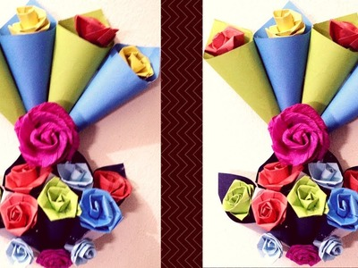 DIY Home Made Wall Hanging with Colour Paper | Christmas Crafts & Wreaths | Idea for Beginners