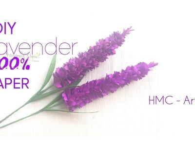 DIY Lavender from paper flower - HMC Art