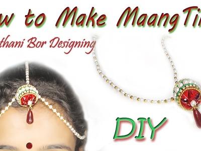 DIY: maang tikka Silk Thread Maang Tikka  making at home| HEADCHAIN| Bridal Borla |Art With Creation