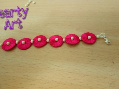 DIY:Make Bracelet from Silk Thread and beads