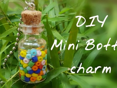 DIY Mini Bottle Charm.DIY Glass jar pendants