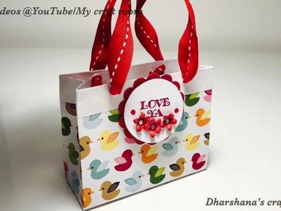 DIY Mini paper gift bag. Easy treat bag. Favour boxes
