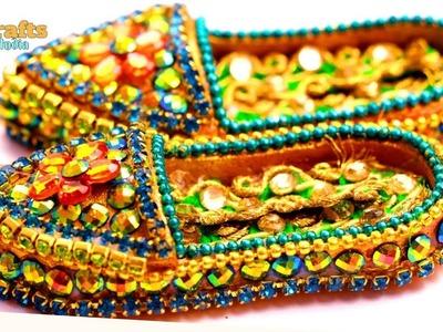 DIY Miniature Sandals for Bal Gopal   Chappalls   Janmashtami   DIYCrafts India #60