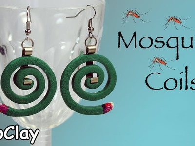 DIY Mosquito Coils earrings. Polymer clay Summer jewelry :-)