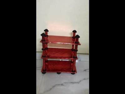 DIY : Multipurpose Rack. cardboard shelf. room organizer using waste cardboard and newspaper