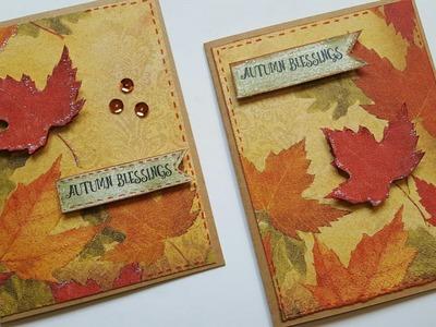 DIY NAPKIN CARDS | CRAFTS FOR FALL SEASON | CARDMAKING IDEAS