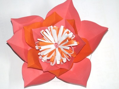 Simple easy and simple paper flower diy easy and simple paper diy paper flower tutorial for room decoration easy and mightylinksfo