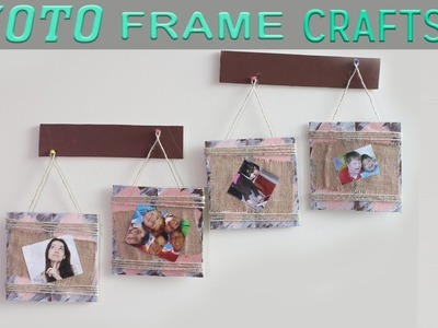 DIY Photo Frame Crafts | Photo Frame Wall Hanging for Home Decor