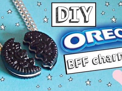 DIY polymer clay Oreo BFF charm