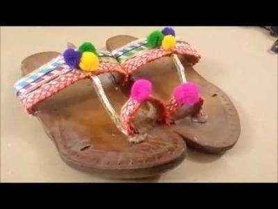 DIY Pom Pom Kolahpuri Chappal | Easy Method