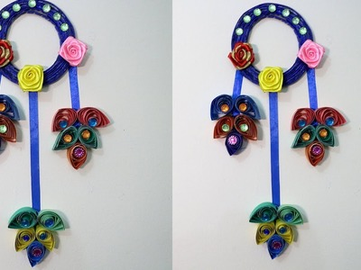 DIY  Quilling and newspaper Wall Hangers for Room Decoration | Amazing DIY home decor wind chime