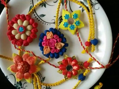 DIY Rakhi - Part 1 | Bread Clay Rakhi | How to make bread Clay |