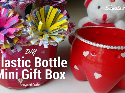 DIY Recycled Plastic Bottle Crafts | Mini Gift Basket | Best Out Of Waste