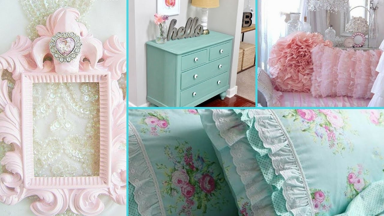 DIY Shabby Chic Style Tween Girl Bedroom Decor Ideas