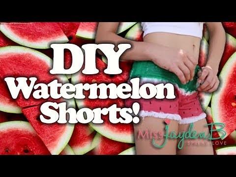 DIY Watermelon Shorts! Perfect Summer Arts and Crafts!