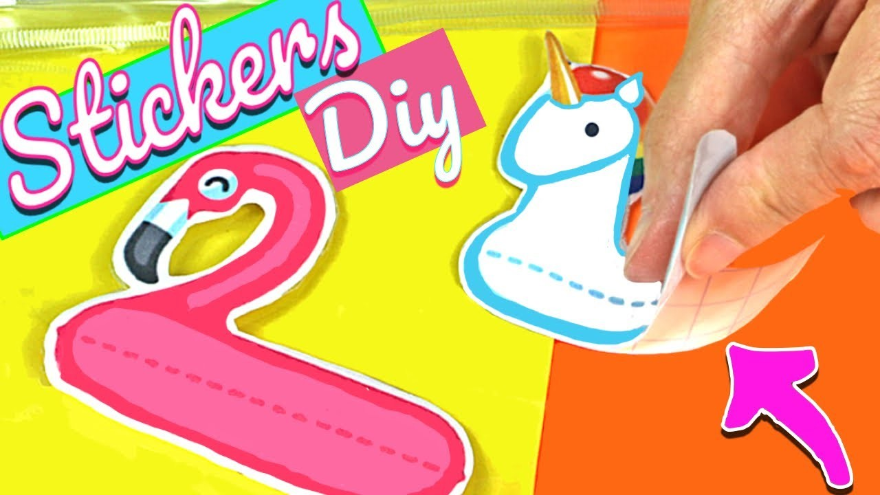 Do your own STICKERS in 5 minutes. Easy DIY CRAFTS